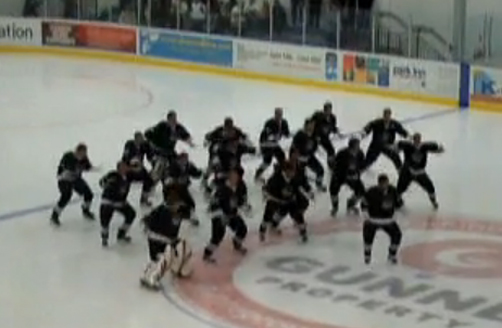 Ice Blacks Perform Haka on Ice