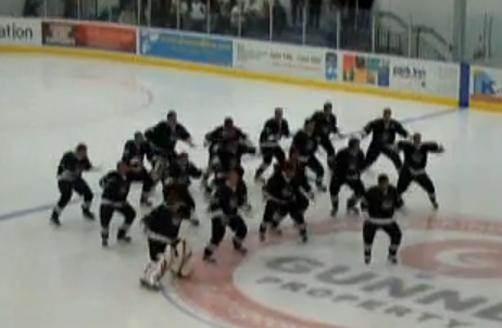 Ice Blacks Perform Haka on Ice