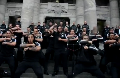 All Blacks Haka at Parliament