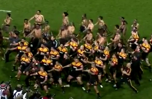 Chiefs Haka After Winning Super Rugby