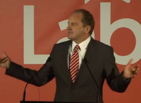 Labour Party Leader David Shearer Speaks At 2012 Labour Conference