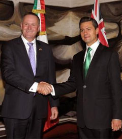 Mexico, NZ Commit to Stronger Trade Relations