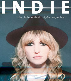 Ladyhawke Slips on Armani for Indie Cover