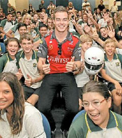 V8 Supercar Driver Promotes Safety on the Road