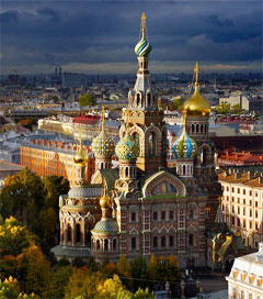 Golden St Petersburg Captured with Help from Drone