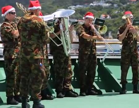New Zealand Army Band performing Christmas Carol