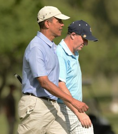 US President Obama and PM John Key enjoy golf game in Hawaii