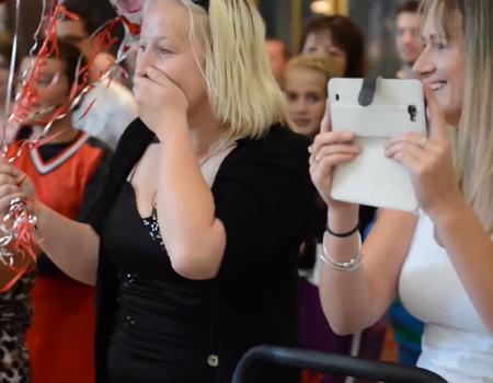 Ceroc Flash Mob Wedding Proposal, Christchurch