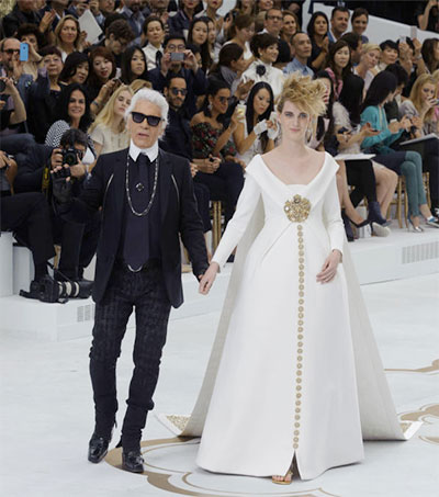 Lagerfeld's Bride Steps out in Maternity Chanel