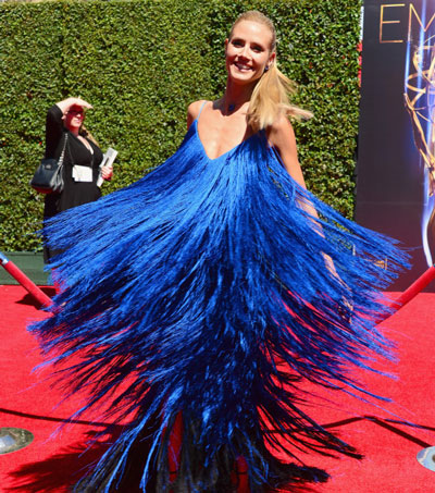Heidi Klum Wears Kiwi Design to Emmys