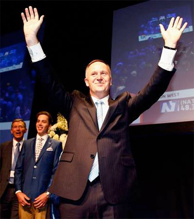 Prime Minister John Key Wins Third Term