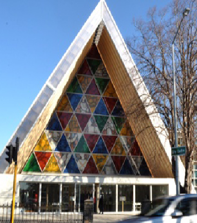 Christchurch's 'Cardboard Cathedral' Symbolises Progress as City Rebuilds