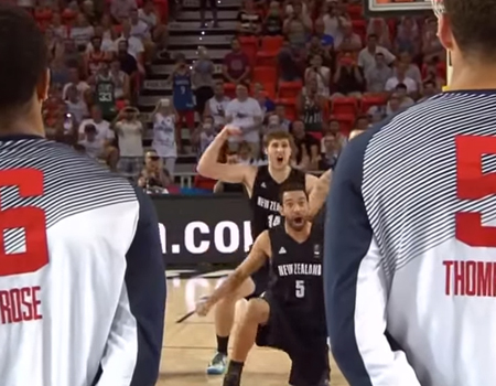 Team USA Very Confused by New Zealand Haka Dance