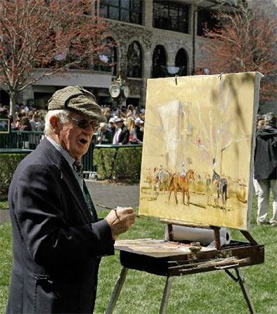 Equine Artist Peter Willams a Kentucky Fixture