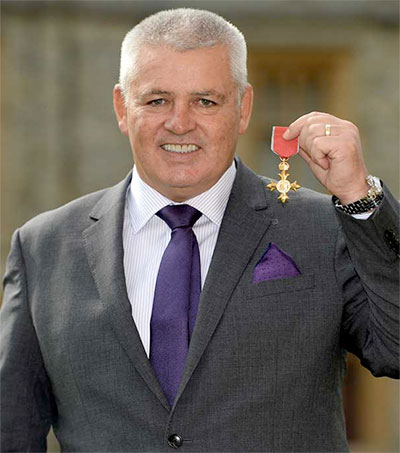 Wales Coach Warren Gatland Receives OBE