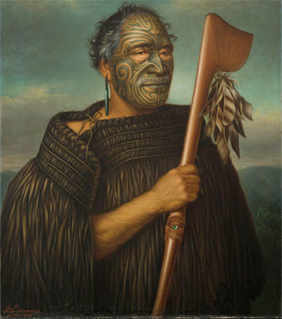 Maori Portraits Lining the Walls of Berlin's National Gallery