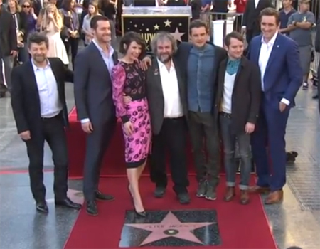 Peter Jackson Receives Hollywood Walk of Fame Star
