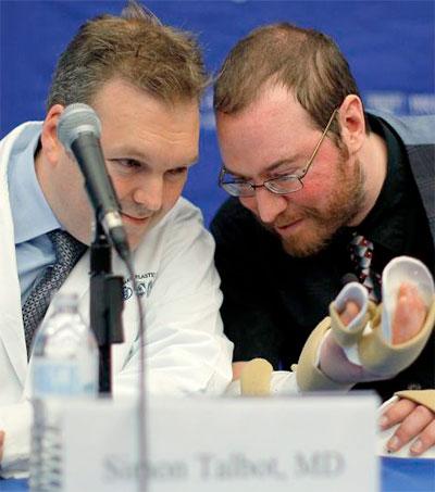 Plastic Surgeon Simon Talbot Completes Double Arm Transplant
