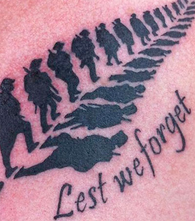 Bruce Neal's Anzac Tattoo an Internet Hit