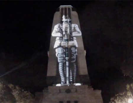 ANZAC Memorial Video on NZ National War Memorial Bell Tower 2015