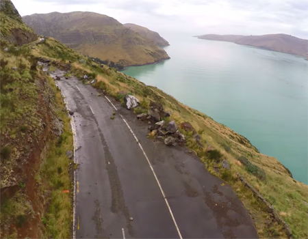 Drone's View of Evans Pass in Christchurch
