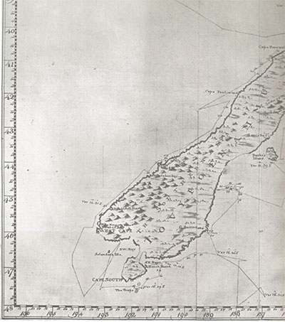 For the Sake of Britain James Cook Amended NZ Map