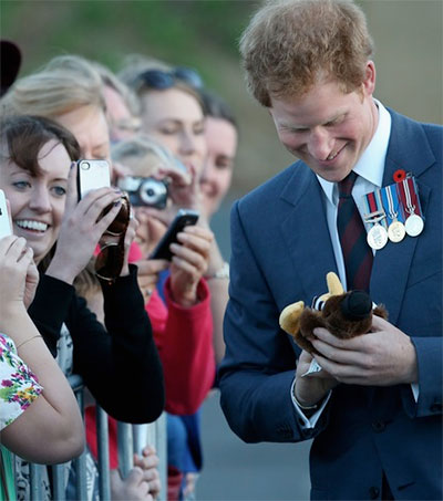 Prince Harry Charms New Zealand Crowds