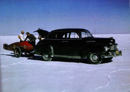 Burt arrives at Bonneville in 1962- Permission Martin Dickerson