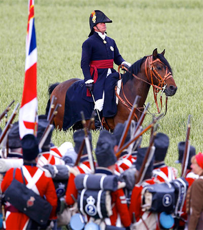 Alan Larsen Is the Duke of Wellington at Re-enactment