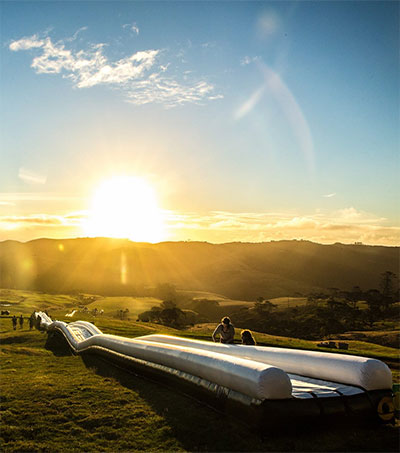 NZ-Designed Waterslide Relocating to US Ski Trail