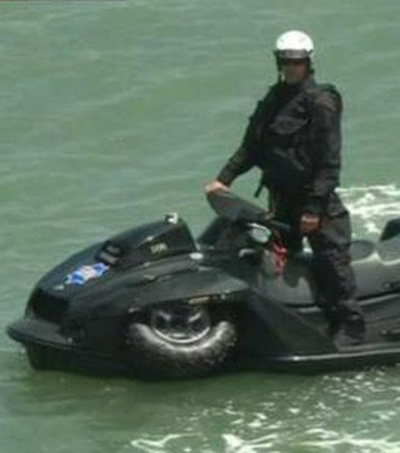 San Francisco Cops Flaunt Epic, Amphibious 'Quadski' at Giants Game