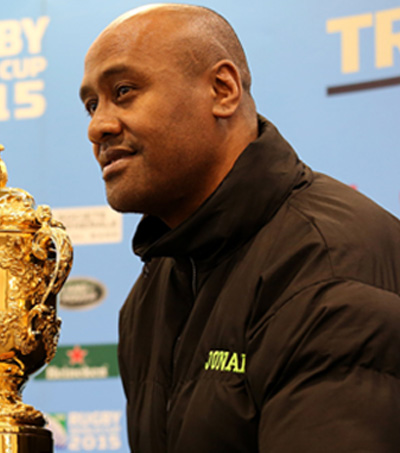 New Zealand's Jonah Lomu Still Talks a Good Game