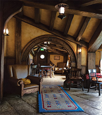 Settling in over a Beer at Hobbiton's Green Dragon