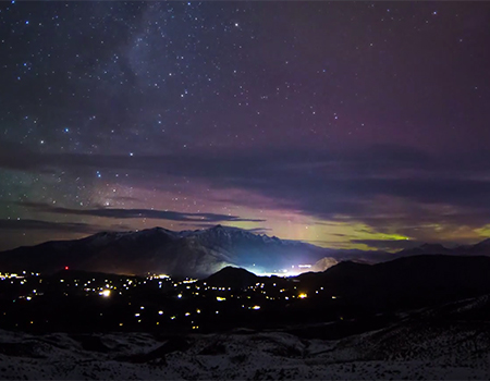 Aurora Australis over Queenstown, NZ