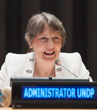 Helen Clark Says Living Standards of 2 Billion Better