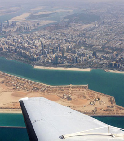 Mike Anstis Flies for Rain over Middle East Desert