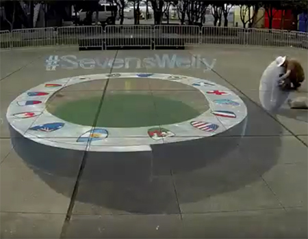 Wellington Sevens 3D Art Work Time Lapse