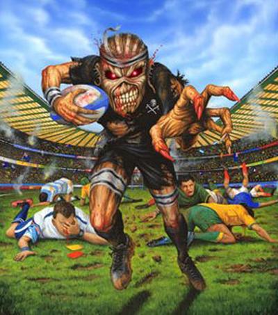 Iron Maiden Release All Blacks T-Shirt For NZ