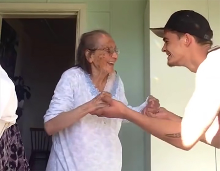 Viral Video: Grandson and Grandmother Dance