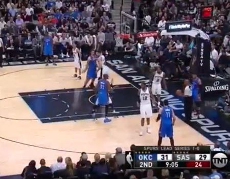 Steven Adams Highlights Thunder v Spurs