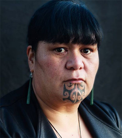 New Generation of Maori Women Wearing Moko