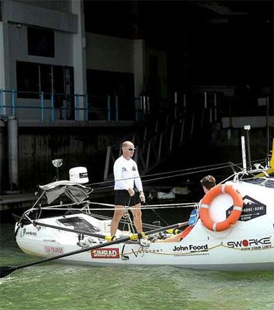 Grant Rawlinson Sets off on Epic Singapore-NZ Trip
