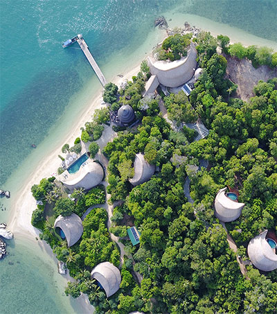 Miles Humphreys Designs Private-Island Resort