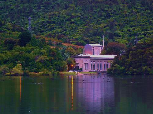 he Tuai Hydro-electric station on Lake Waikaremoana, Hawkes Bay