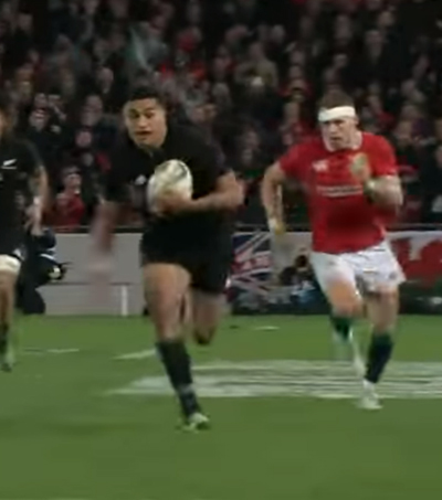 New Zealand Run Away with First Test Against Lions