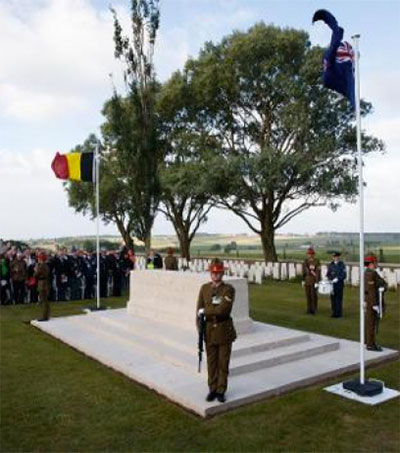 NZ Soldiers Remembered at Messines Anniversary