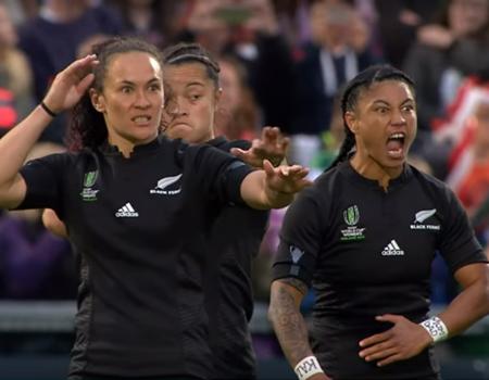 HAKA! New Zealand Perform Haka After Winning the Women's Rugby World Cup