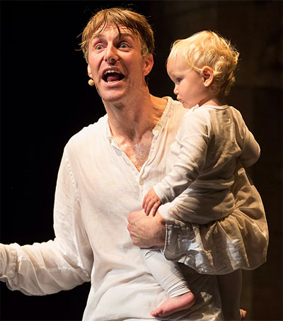 Comedian Trygve Wakenshaw Puts His Baby to Work