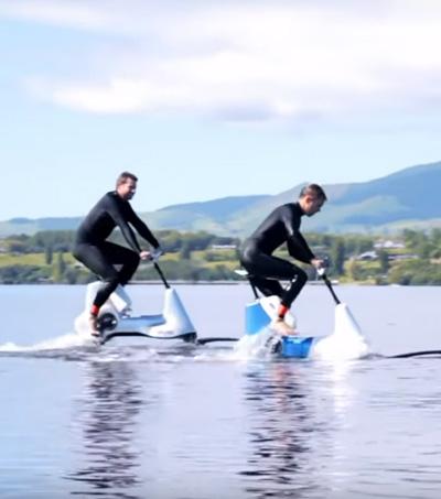 Manta5 Pedal-Electric Hydrofoil Takes To The Lake – Or Sea