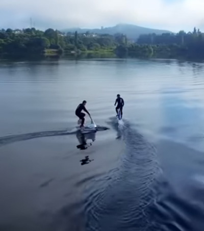 Cycle on Water with Manta5's Electric Water Bike